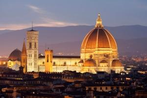 Florence's Duomo at dusk